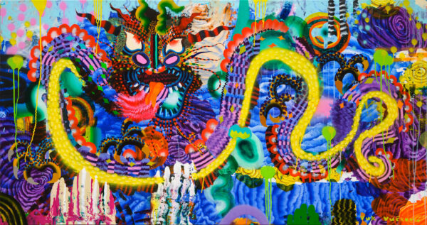 Dragon, 95 x 180 cm, acrylic on canvas, 2020