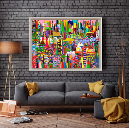Lovejoy - framed print on canvas