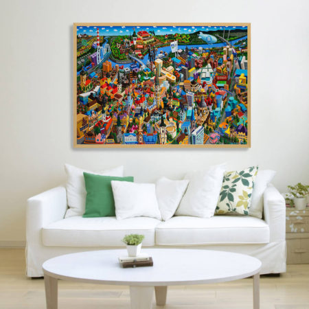 canvas xl framed in room