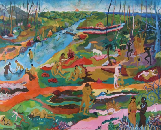 Joy of living 200 x 160 cm, oil on canvas 2008.