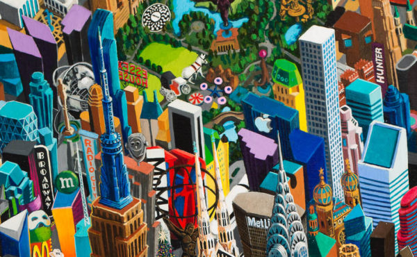New York City (detail), 215 x 150 cm, oil on canvas, 2015