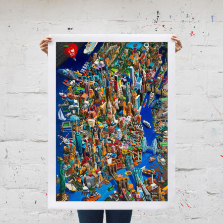 new york city canvas l unframed